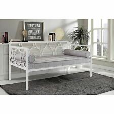 White Metal Daybed Frame Contemporary Day Bed Twin Size Home Guest Room New