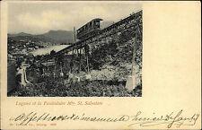 Eisenbahn ~1900/10 Schweiz Lugano Funiculaire Bergbahn Mte. St. Salvatore AK