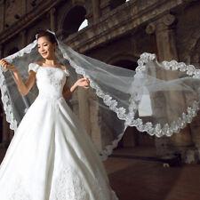 3M 1 niveaux Nuptial Cathedral mariage voile élégant lacets Applique bord