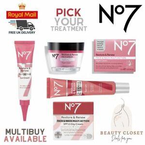 No7 Boots Restore & Renew Multi Action Day, Night Cream Serum Assorted Skincare