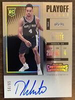 2017-18 Panini Contenders Derrick White Playoff Ticket Auto RC #56/65 SA Spurs!