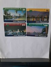 Set   X4 1Hole Phonecards Cityscapes Prefix 1058  1157  1158  1160