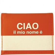 Flight 001 Ciao Passport Wallet Orange Travel Organizer Credit Card ID Holder