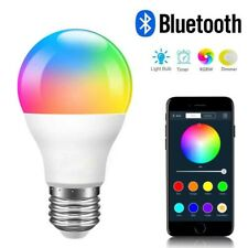 RGBW Bluetooth LED Light Bulb Color Changing E27 Home Smart Lamp APP Control