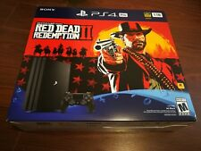 NEW PlayStation 4 PS4 (1TB) Pro Red Dead Redemption 2 System Bundle