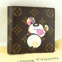 LOUIS VUITTON PORTE BILLETS CARTES CREDIT MONNAIE Bifold Wallet Monogram Panda