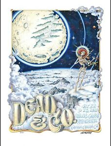 Dead Company Fiddlers Green 10/22-23/21 Print Poster Co 2021 AJ Masthay denver P