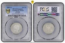 GERMANY PRUSSIA - RARE SILVER 1/6 THALER COIN 1861 YEAR KM#487 GRADING PCGS