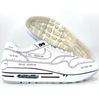 Nike Air Max 1 Sketch to Shelf Tinker Hatfield White Black CJ4286-100 Men's 10.5