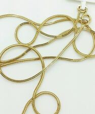 """14k Solid Yellow Gold Foxtail Square Box Wheat Necklace Chain 16"""" 0.8mm"""