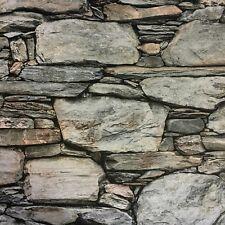 Negrita 3D realista wallpaper efecto muro de piedra natural mezcla de Entrega Gratis
