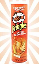 Cheesy Quesadilla Pringles Potato Crisps Chips Cheese LIMITED EDITION 5.96 OZ