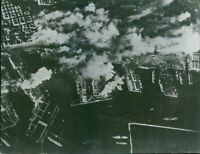 A smoke can be seen on Naples, Italy, while being bombed by the U.S. bombers. -