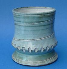 Earthenware Green Studio Pottery Vases