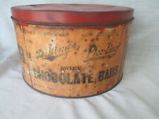 *old  DILLINGS Plee-Zing sweet milk CHOCOLATE  BARS  2 for 5 cents * Tin vintage