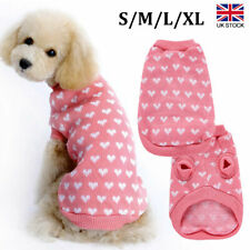 More details for puppy dog cat knitwear costume knitted sweater winter jumper clothes coat pink