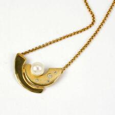 Perlen-Halsketten & -Anhänger mit Perlen-Sets aus Gelbgold für Damen