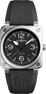 Bell & Ross Instruments BR 03-92 Black Dial 42mm Steel Men's Watch BR0392-BLC-ST