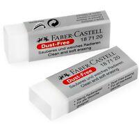 Faber-Castell Staubfrei Komfort Rand Schwamm Gummi - Weiß - Packung 2