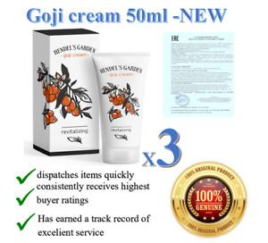 3X Goji Berry Revitalizing Cream Skin Care Anti-aging 100% Original Hendel 2023