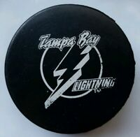 TAMPA BAY LIGHTNING VINTAGE NHL OFFICIAL HOCKEY PUCK MADE IN CZECHOSLOVAKIA RARE