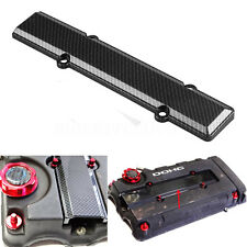 Carbon Fiber Look Valve Cover Spark Plug Insert For Honda B18 B16 B Series VTEC