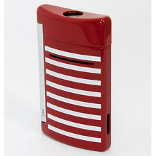 S.T. Dupont MiniJet Lighter, Red With White Stripes, 10107 (010107) New In Box