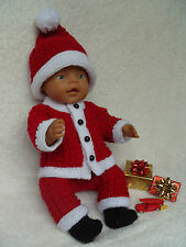 *07~Carol Ann Designs Baby Born Size Doll 4 Piece Boy Christmas Knit Pattern