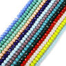 Lots Wholesale Rondelle Faceted Crystal Glass Loose Spacer Beads 2/3/4/6/8/10mm