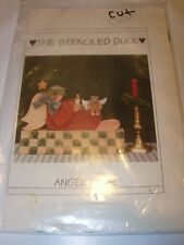 FOLK ART PATTERN CHRISTMAS TOLE PAINTING PROJECT ANGEL BEAR WOOD CRAFTS TOLEWARE