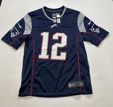 New England Patriots Official Nike Mens NFL Game Jersey - Medium - BRADY 12