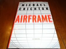 Airframe Inscribed by Michael Crichton (1996, Hardcover 1st trade)