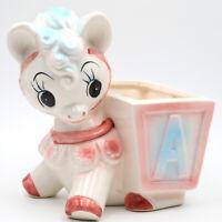 Vintage RUBENS ORIGINALS Big Eyes Baby Donkey/Horse/Pony with Cart Planter JAPAN