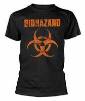 Biohazard T Shirt Logo Official Black Mens Tee NEW Metal Classic Rock