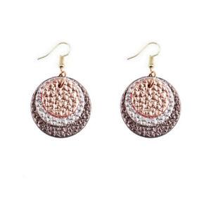 Triple Layer Genuine Leather Earrings Lightweight Classic Small Teardrop Jewelry