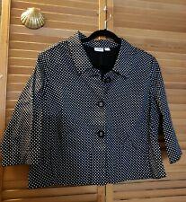 CATO Black & White Polka Dot Short Jacket Size L