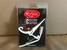 USA KYSER COLOUR QUICK CHANGE CAPO - NYLON STRING CLASSICAL GUITAR - WHITE
