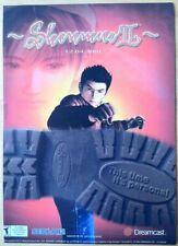 Shenmue 2 Poster Ad Print Sega Dreamcast Retro