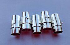 UK 5pc 8mm agujero Pegamento en broches de barril Magnético-Cuero Paracord Kumihimo