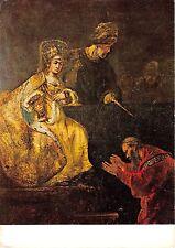 B63797 art reproduction Rembrant Haman asking forgiveness   painting postcard
