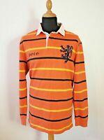 Polo Ralph Lauren Langarm Polo Shirt Herren XL Orange gestreift bunt warm