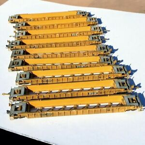 LOT OF NINE HO Scale Weathered Walthers 53' NSC Well Cars TTX DTTX USED