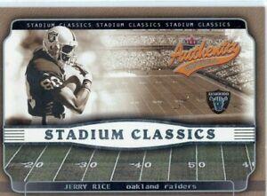 2002 Fleer Authentix Stadium Classics Jerry Rice HOF