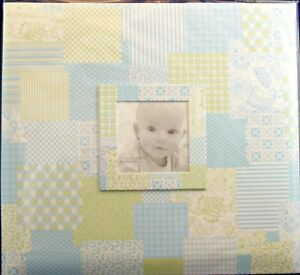 NEW MBI 12 X 12 ALBUM BABY BLUE PATCHWORK 872005  987