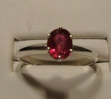 NEW Ruby Ring 1.08ct .925 Sterling Silver Size 6.75