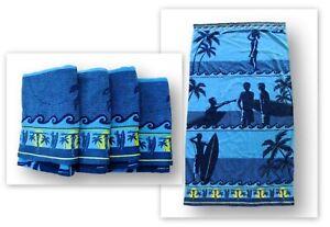 Costco Kirkland Signature 100% Egyptian Cotton Beach Towel Lot Surfboard Surfing