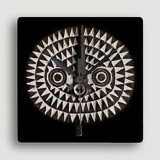 Bobo Bwa Sun Mask ~ SQUARE WALL CLOCK / Compelling African Art Design