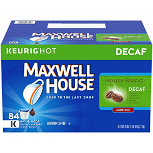 Maxwell House Decaf House Blend Medium Roast K-Cup Coffee Pods 84 Pods