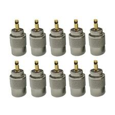 10pcs UHF PL259 Male Twist-on Connectors RG8 RG58 RF Coaxial Cable Adapters