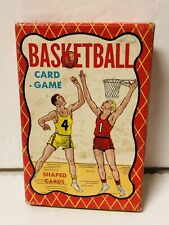 Vintage BASKETBALL Card Game Warren Paper Products Built Rite Games COMPLETE